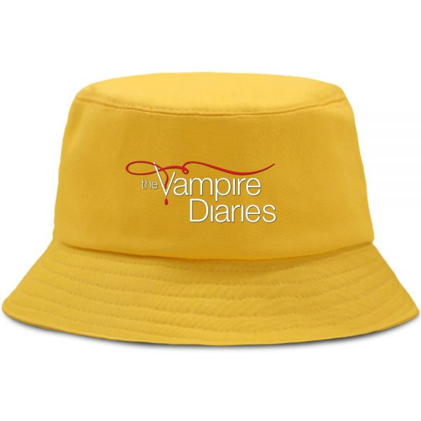 Vampire Diaries Panama Bucket Hat Women Men Hip Hop Cap Summer Fishing Hats Sun Flat Top 2 - Vampire Diaries Merch