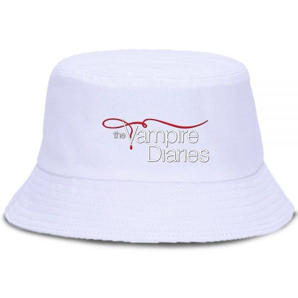Vampire Diaries Panama Bucket Hat Women Men Hip Hop Cap Summer Fishing Hats Sun Flat Top 3 - Vampire Diaries Merch