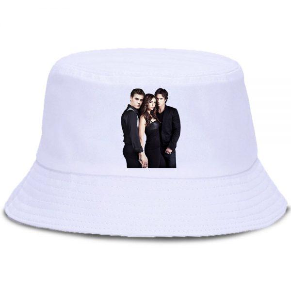 Vampire Diaries Panama Bucket Hat Women Men Hip Hop Cap Summer Fishing Hats Sun Flat Top - Vampire Diaries Merch