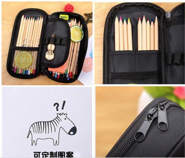 Vampire Diaries School Supplies Student Pencil Case Cartoon Boys Girls High capacity Pen Bag Kid Purse 2 - Vampire Diaries Merch