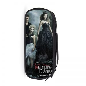 Vampire Diaries School Supplies Student Pencil Case Cartoon Boys Girls High capacity Pen Bag Kid Purse - Vampire Diaries Merch