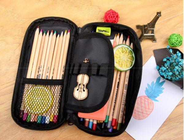 Vampire Diaries School Supplies Student Pencil Case Cartoon Boys Girls High capacity Pen Bag Kid Purse 4 - Vampire Diaries Merch