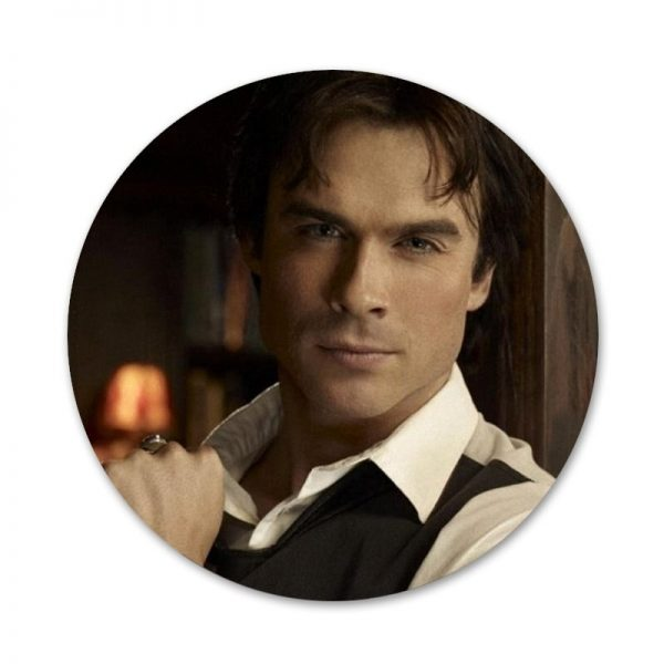 Vampire Diaries Stefan Salvatore Poster Badge Brooch Pin Accessories For Clothes Backpack Decoration gift 1 - Vampire Diaries Merch