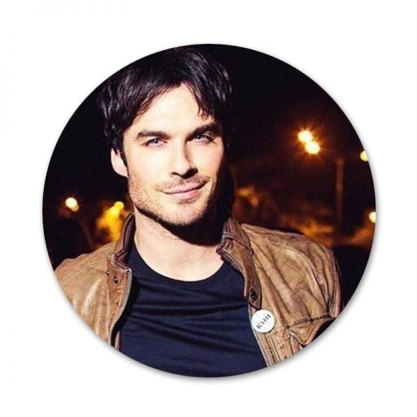 Vampire Diaries Stefan Salvatore Poster Badge Brooch Pin Accessories For Clothes Backpack Decoration gift 2 - Vampire Diaries Merch