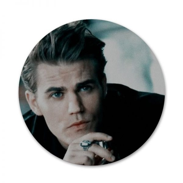 Vampire Diaries Stefan Salvatore Poster Badge Brooch Pin Accessories For Clothes Backpack Decoration gift 3 - Vampire Diaries Merch
