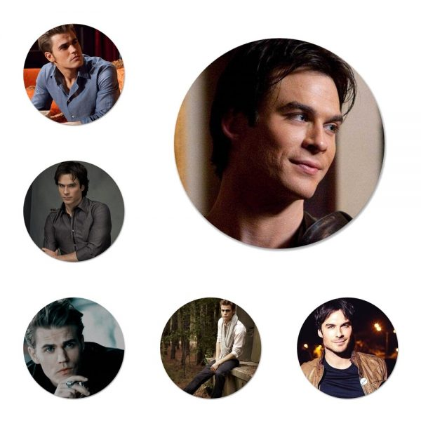 Vampire Diaries Stefan Salvatore Poster Badge Brooch Pin Accessories For Clothes Backpack Decoration gift - Vampire Diaries Merch