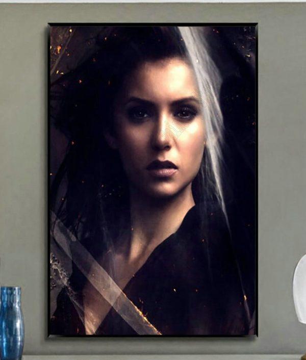 W327 The Vampire Diaries Nina Dobrev TV Series Trend Beautiful Fashion Silk Fabric Wall Poster Art - Vampire Diaries Merch