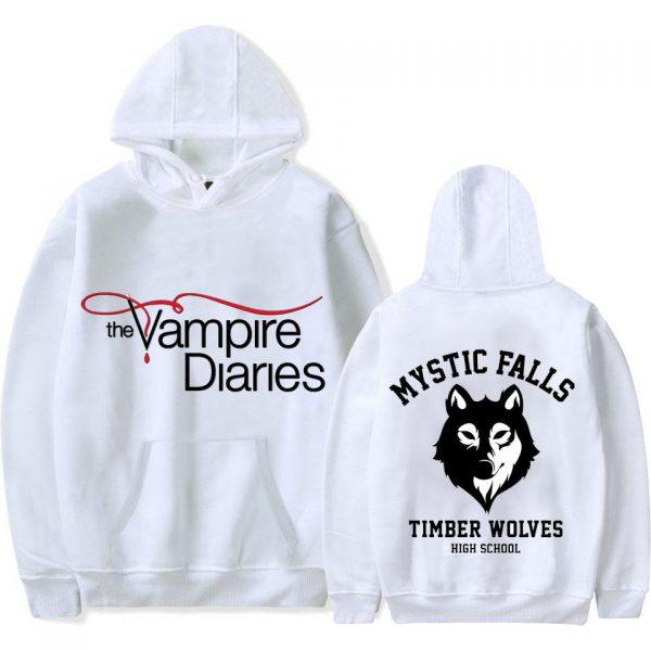 Hoodies - Mystic Falls VPD0109 Black / XS Official Vampire Diaries Merch