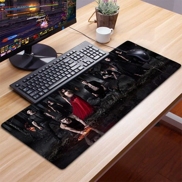XXL Mousepad Gamer Gaming Mouse Pad Computer Accessories Keyboard Laptop Padmouse Desk Mat Mouse Pad Gamer 2 - Vampire Diaries Merch