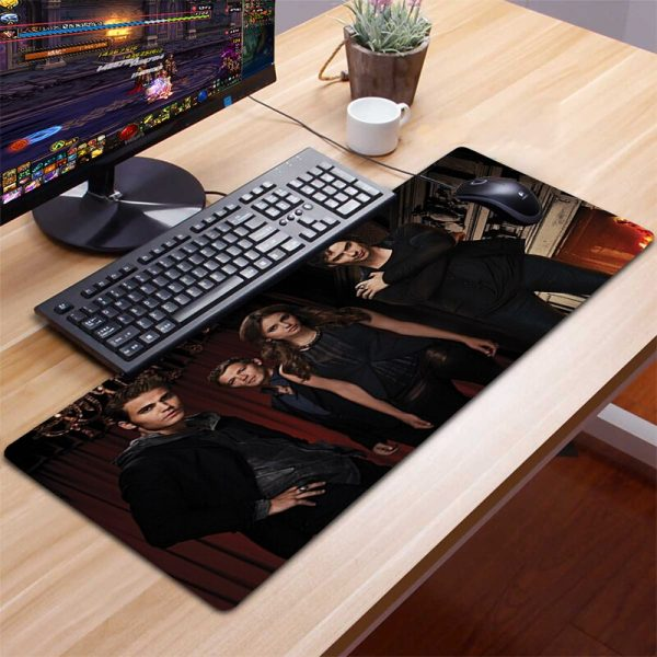 XXL Mousepad Gamer Gaming Mouse Pad Computer Accessories Keyboard Laptop Padmouse Desk Mat Mouse Pad Gamer 4 - Vampire Diaries Merch