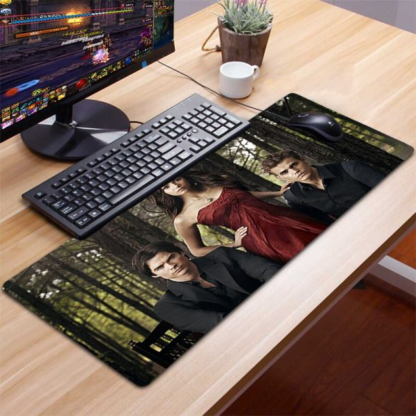 XXL The Vampire Diaries Mousepad Gamer Gaming Mouse Pad Computer Accessories Keyboard Laptop Padmouse Desk Mat 2 - Vampire Diaries Merch