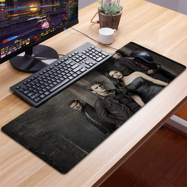 XXL The Vampire Diaries Mousepad Gamer Gaming Mouse Pad Computer Accessories Keyboard Laptop Padmouse Desk Mat 3 - Vampire Diaries Merch