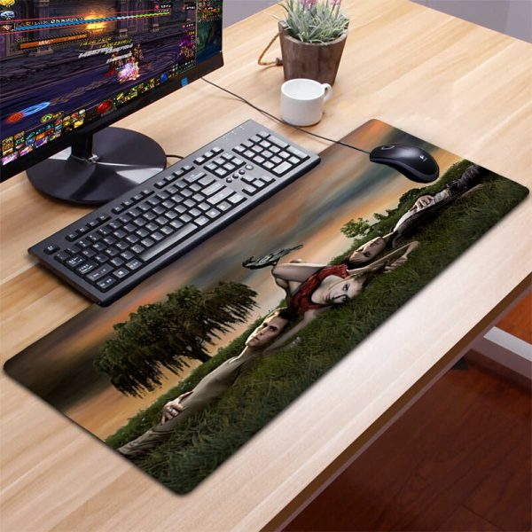 XXL The Vampire Diaries Mousepad Gamer Gaming Mouse Pad Computer Accessories Keyboard Laptop Padmouse Desk Mat 4 - Vampire Diaries Merch