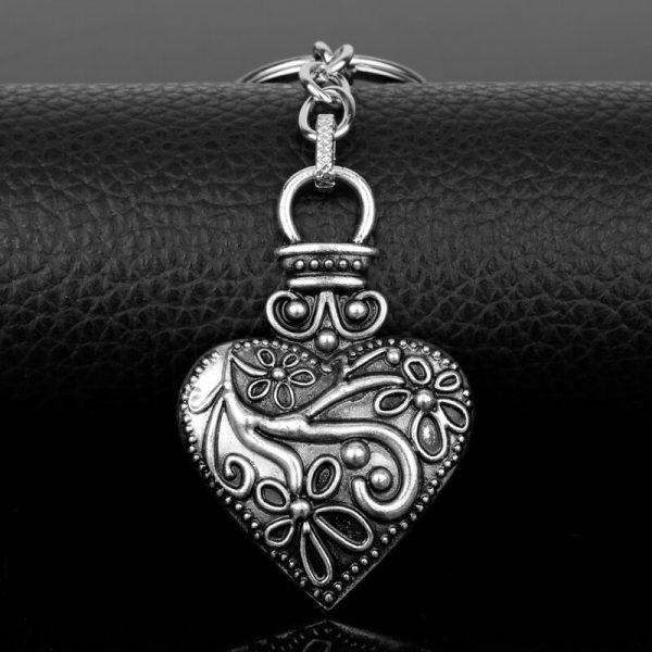 dongsheng The Vampire Diaries Keychain Caroline Forbes Heart Key Ring Vervain Keyring Key Chain Key Holder 1 - Vampire Diaries Merch