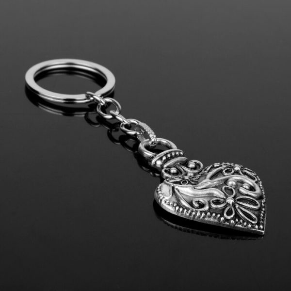 dongsheng The Vampire Diaries Keychain Caroline Forbes Heart Key Ring Vervain Keyring Key Chain Key Holder 2 - Vampire Diaries Merch