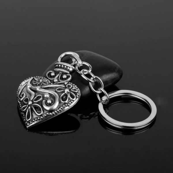 dongsheng The Vampire Diaries Keychain Caroline Forbes Heart Key Ring Vervain Keyring Key Chain Key Holder 3 - Vampire Diaries Merch