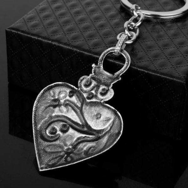 dongsheng The Vampire Diaries Keychain Caroline Forbes Heart Key Ring Vervain Keyring Key Chain Key Holder 4 - Vampire Diaries Merch