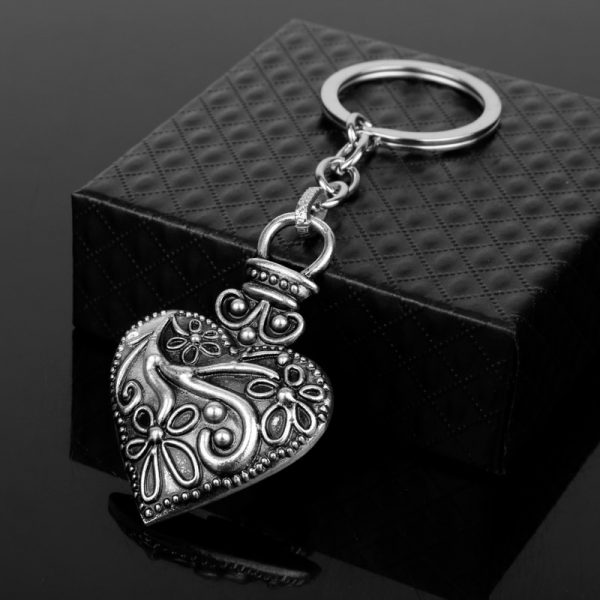dongsheng The Vampire Diaries Keychain Caroline Forbes Heart Key Ring Vervain Keyring Key Chain Key Holder - Vampire Diaries Merch