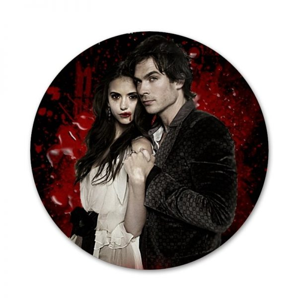 the Vampire Diaries Badge Brooch Pin Accessories For Clothes Backpack Decoration gift 2 - Vampire Diaries Merch