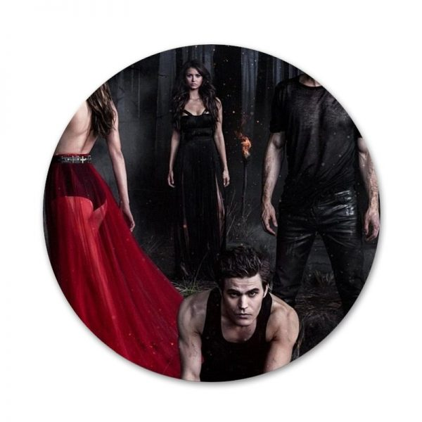 the Vampire Diaries Badge Brooch Pin Accessories For Clothes Backpack Decoration gift 3 - Vampire Diaries Merch