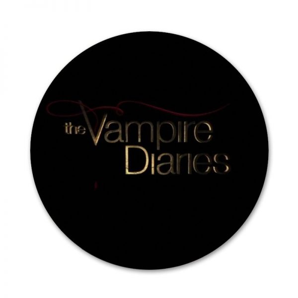 the Vampire Diaries Badge Brooch Pin Accessories For Clothes Backpack Decoration gift 4 - Vampire Diaries Merch