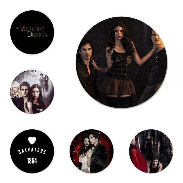 the Vampire Diaries Badge Brooch Pin Accessories For Clothes Backpack Decoration gift - Vampire Diaries Merch