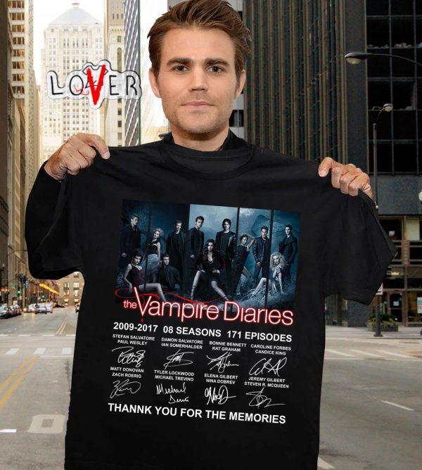 Black / S Official Vampire Diaries Merch